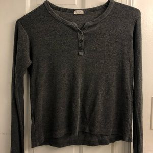 Long Sleeve Grey Brandy Melville Shirt